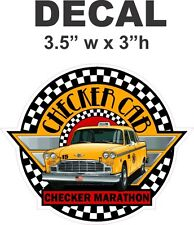 1 Checker Cab Marathon Vinyl Decal