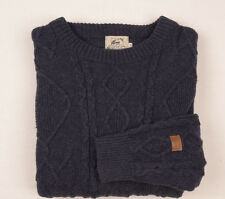ULVANG NORWAY Jumper Mens CHUNKY Cable knit WOOL Sweater NORWEGIAN FISHERMAN XL