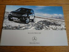 MERCEDES BENZ M CLASS  PRICE LIST SALES BROCHURE APRIL 2006