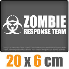 Zombie Response Team 20 x 6 cm JDM Decal Sticker Aufkleber Racing Die Cut
