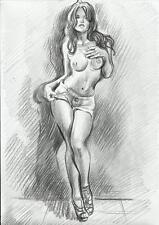 AKT Zeichnung Nude Erotik -  Bleistift - Künstler Gosha