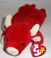 Ty Beanie Babies SNORT THE BULL #4002 Retired ORIGINAL TY Plush w/ Tags