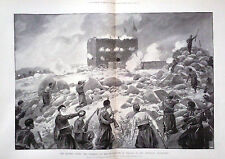 1897 PRINT CRETE : STORMING OF THE BLOCKHOUSE OF MALAXA BY CHRISTIAN INSURGENTS