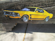 BOSS 302 FORD Mustang 3D Effect  WING LOUVERS EMBOSSED METAL DECO Auto Shop