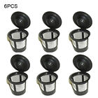 6x NEW Reusable Single Cup Keurig Solo Filter Pod K-Cup Coffee Stainless Mesh