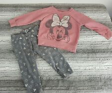 Disney Baby Girls Minnie Mouse Jumper & Leggings Outfit Set Bundle Size 9-12