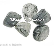 QUARZO TORMALINATO Mis.GRANDE minerali Burattai Cristalloterapia Kristal CHAKRA