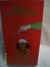 Musical Dancing Puppet Santa Dog Battery Operated Christmas Toy Vintage