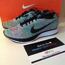 NIKE FLYKNIT RACER UK 5 US 7 38 MULTICOLOR RAINBOW MULTI COLOUR 2.0 HTM 5.5 2015