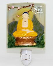 Zen Buddha Meditating Nightlight Lamp Candle Yoga Peaceful Home Decor Gifts
