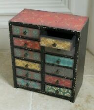 Vintage Industrial Moroccan Style Cabinet 12 Drawers Storage Chest Mutli Colour