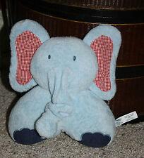 PBK Pottery Barn Kids Blue Musical Plush Crib Eli Elephant Jungle   Q1