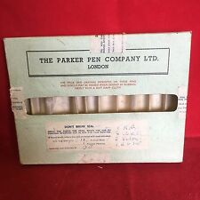Vintage The Parker Per Company Ltd London Salesman Box For 10 Pens