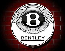 BENTLEY LED 600mm ILLUMINATED GARAGE WALL LIGHT CAR BADGE SIGN LOGO MAN CAVE