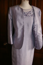 Jacques Vert Dress Jacket Lilac Shimmer Outfit Wedding Mother of Bride BNWT 16