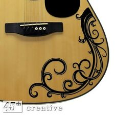 Acoustic Guitar Vine decal - full size dreadnought Acoustic Guitar vinyl graphic