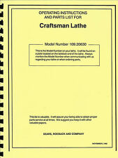 Craftsman-Dunlap 109.20630 Instructions & Parts Manual 0192