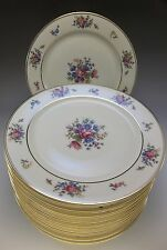 4 Bavaria Tirschenreuth Queensrose Luncheon Plate Pink Roses Porcelain China