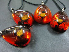 12pcs wholesale fashion insect jewelry gold angle spider amber pendants