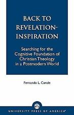 Back to Revelation-Inspiration : Searching for the Cognitive Foundation of...