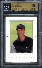 "TIGER WOODS~2001 UPPER DECK GOLF GALLERY #GG4 BGS-10 ""PRISTINE"" ROOKIE RC CARD"
