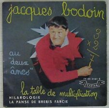 Jacques Bodoin 45 tours La table de multiplication