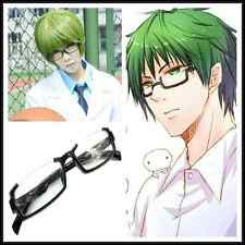 Kuroko no Basuke Basketball Midorima Shintaro Cosplay wig Eye Glasses with Lens