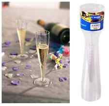 60 x Champagne Flutes 135ml Plastic Glasses Party Reusable & Disposable KCC2