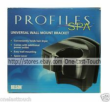 PROFILES SPA* Space Saver WALL MOUNT BRACKET Hair Dryer Holder UNIVERSAL (Boxed)