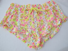 1 NWT Victoria's Secret Yellow Floral Crochet Swim Cover-up Bottom Short (S)