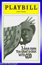 Playbill + Your Arms Too Short to Box With God + Sheila Ellis , Mabel Robinson