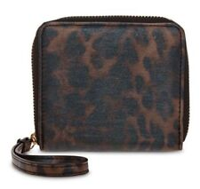BNWT Authentic LIZ CLAIBORNE Zip Around Small Wallet Wristlet Leopard Nylon