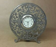 Lenox Kirk Stieff Pewter Filigree Clock