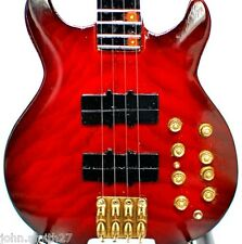 Mark King Level 42 Headless Bass Beautiful Red Miniature Guitar