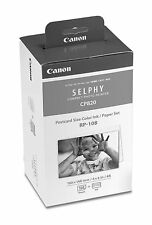 Canon RP-108 Postcard Size Color Ink/Paper Set for Selphy Printer CP-820 & 1000