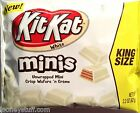 Kit Kat Minis White Chocolate Cookie Wafer Candy Bar 12 Bags 2.2oz (62g) Each
