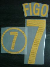 RETRO! FIGO #7 Portugal Home EURO 2004 PU Name + Numbering