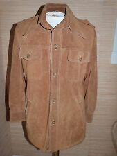 Lakeland Vintage Mens Soft Suede Leather Shirt Jacket sz 40Awesome Condition