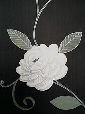 Designer Puccini Range Black & Cream Wallpaper Flower floral Feature 5568 Debona