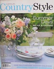 Country Style Magazine December 2002 Ideas For The Festive Table