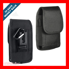 VERTICAL METAL CLIP NYLON POUCH PHONE PROTECTIVE CASE+D RING for KYOCERA TORQUE