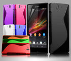 NEW S LINE WAVE GEL CASE COVER & SCREEN PROTECTOR FOR SONY XPERIA Z