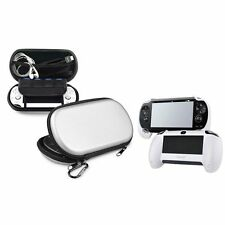Silver EVA Hard Case+White Durable Hand Grip for Sony Playstation PS Vita PSV