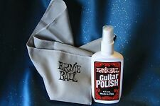 Ernie Ball Guitar Polish with Polishing Cloth, 4 oz., MPN 4222