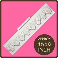 Silicone Design Mat Fondant Icing Sugar Paste Craft Mould: Lace Border 1 1/4""