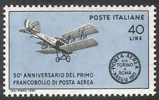 Italy 1967 Planes/Aviation/Transport/Airmail/Aircraft/Biplane 1v (n41691)