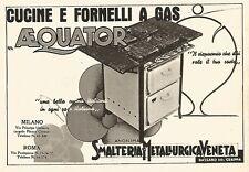 W9317 Cucine e fornelli a gas AEQUATOR - Pubblicità del 1939 - Vintage advert