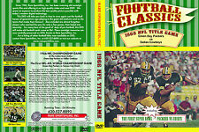 1966 NFL TITLE GAME Packers-Cowboys plus THE FIRST SUPER BOWL, both on one DVD!