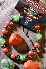 ARIES Gemstone Bracelet Plus a FREE book Astrology Secret Code & Bookmark