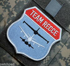 U-2 RC-135 SR-71 BLACKBIRD REAL TEAM RECCE RIVET JOINT COMBAT SENT VeIcrọ PATCH